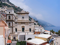Santa Maria Assunta Church in Positano. Amalfi Coast, Campania, Italy, Europe, World Heritage Site.