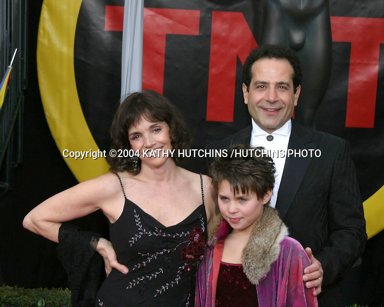 ©2003 KATHY HUTCHINS /HUTCHINS PHOTO.10TH ANNUAL SCREEN ACTORS GUILD AWARDS.SHRINE AUDITORIUM.LOS ANGELES, CA.FEBRUARY 22, 2004..TONY SHALHOUB AND FAMILY
