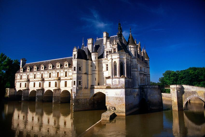 Chateau de Chenonceau in the Loire Valley, Chenonceaux, near Amboise, France.