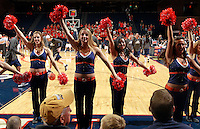 CHARLOTTESVILLE, VA- December 3: The Virginia Cavalier dance team performs during the game on December 27, 2011 against the Longwood Lancers at the John Paul Jones Arena in Charlottesville, Virginia. Virginia defeated Longwood 86-53. (Photo by Andrew Shurtleff/Getty Images) *** Local Caption ***