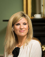 02/04/2015<br /> Jenny Buckley UTV Weather presenter <br />  during the Pride of Ireland judging day in the Mansion House, Dublin.<br /> Photo:  Gareth Chaney Collins
