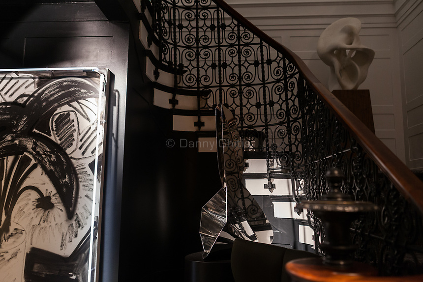 Design by Powell &amp; Bonnell (and staircase by Savage Interior Design) at The 45th Kips Bay Decorator Show House, at 125 East 65th St. <br /> <br /> Danny Ghitis for The New York Times