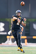 Baltimore, MD - SEPT 10, 2016: Towson Tigers quarterback Morgan Mahalak (6) throws a pass on the run during game against Saint Francis at Johnny Unitas Stadium in Baltimore, MD. The Tigers defeated St. Francis 35-28. (Photo by Phil Peters/Media Images International)