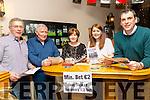 Enjoying the Kilmoyley Fun Race night at McElligott's Bar on Friday were l-r Paddy Harrington, Maurice McElligott, Julie O'Connor, Triona Brassil and Joe Walsh