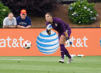 Hope Solo. The USWNT defeated Japan, 2-0 during the game at WakeMed Soccer Park in Cary, NC.