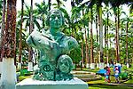 Puerto Limon, Costa Rcia, Parque Vargas, Christopher Columbus Bronze Statue , Honoring Columbus Voyage To The Coast Of Costa Rica
