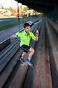 PE00253-00...WASHINGTON - Pierce Prohovost jogging in Edmonds. (MR# P9)