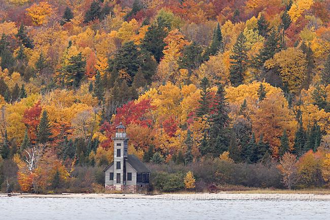Grand Island East Channel Lighthouse autumn