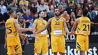 Basketball  1. Bundesliga  2016/2017  Hauptrunde  16. Spieltag  27.12.2016 Walter Tigers Tuebingen - MHP Riesen Ludwigsburg Enttaeuschung Tigers; Davion Berry, Stanton Kidd und Mauricio Marin (v.li.)