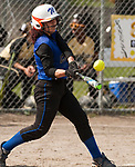 WATERBURY,  CT-051117JS10- Crosby's Janel Padin (10) rips a double during their game against WCA Thursday at Huntingdon Park in Waterbury. <br />  Jim Shannon Republican-American