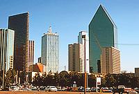 Dallas:   Dallas Skyline 1996. Interstate Bank Bldg. to right.