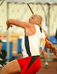 France Gagn&eacute; of Qu&eacute;bec won the bronze in Javelin today.<br /> (Benoit Pelosse photographe)