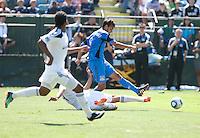Chris Wondolowski shoots the ball. The San Jose Earthquakes defeated the LA Galaxy 1-0 at Buck Shaw Stadium in Santa Clara, California on August 21st, 2010.