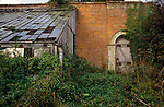 Great Tew Kitchen gardens to manor House Oxfordshire 1980s.