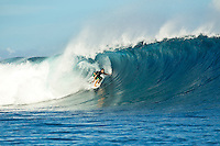 Namotu Island Resort, Fiji.  (Monday, March 21, 2011). Kieron Prenter (AUS) surfing Cloudbreak.  A new swell in the 4'-6' range provided excellent sessions at Cloudbreak today.  .- Photo: joliphotos.com