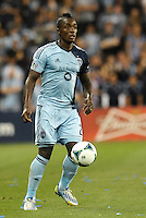 KANSAS CITY, KS - June 1, 2013:<br /> Mechack Jerome (24) defender Sporting KC in action<br /> Montreal Impact defeated Sporting Kansas City 2-1 at Sporting Park.