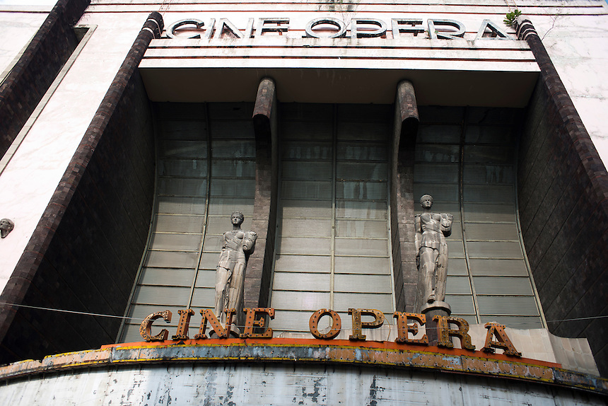 Cine Opera, in ruins near Avenida Mexico Tacuba, Mexico DF