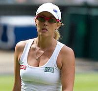 Anastasia Rodionova..Tennis - Grand Slam - The Championships Wimbledon - AELTC - The All England Club - London - Mon June 25th 2012. .© AMN Images, 30, Cleveland Street, London, W1T 4JD.Tel - +44 20 7907 6387.mfrey@advantagemedianet.com.www.amnimages.photoshelter.com.www.advantagemedianet.com.www.tennishead.net