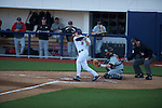 Ole Miss' Auston Bousfield (9) bats vs. Arkansas State in baseball action at Oxford-University Stadium in Oxford, Miss. on Tuesday, February 21, 2012. Ole Miss won the home opener 8-1 to improve to 2-1 on the season. Arkansas State dropped to 0-3.