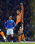 Francesco Sandaza celebrates goal no 2 for Dundee Utd