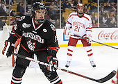 Kevin Roy (NU - 15) - The Northeastern University Huskies defeated the Boston University Terriers 3-2 in the opening round of the 2013 Beanpot tournament on Monday, February 4, 2013, at TD Garden in Boston, Massachusetts.