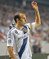 CARSON, CA - July 4, 2012: LA Galaxy forward Landon Donovan (10) during the LA Galaxy vs Philadelphia Union match at the Home Depot Center in Carson, California. Final score LA Galaxy 1, Philadelphia Union 2.