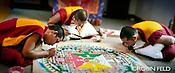 Monks making sandpainting mandela