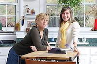 {November 7, 2009} 11:23:30 AM -- Fredericksburg, VA. -- Jody Williams, a Nobel Peace prize winner for her work in eradicating land mines, left, has pulled together a cookbook with recipes from other Nobel laureates and people who have worked for peace. She did the work in combination with her stepdaughter Emily Goose, right, as part of Emily's high school senior project.  ... -- ...Photo by Andrew B. Shurtleff, Freelance.