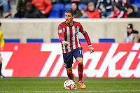 Leandro Barrera (11) of Chivas USA. The New York Red Bulls and Chivas USA played to a 1-1 tie during a Major League Soccer (MLS) match at Red Bull Arena in Harrison, NJ, on March 30, 2014.