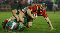 Wales U20's Kieran Williams celebrates scoring his side's fourth try<br /> <br /> Photographer Alex Dodd/CameraSport<br /> <br /> RBS Six Nations U20 Championship Round 4 - Wales U20s v Ireland U20s - Saturday 11th March 2017 - Parc Eirias, Colwyn Bay, North Wales<br /> <br /> World Copyright &copy; 2017 CameraSport. All rights reserved. 43 Linden Ave. Countesthorpe. Leicester. England. LE8 5PG - Tel: +44 (0) 116 277 4147 - admin@camerasport.com - www.camerasport.com