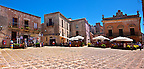 Plazza Umberto,  &Eacute;rice, Erice, Sicily stock photos.