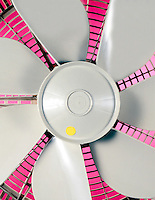 FAN BLADES<br /> (1 of 2)<br /> At rest.<br /> Each blade is clearly visible.