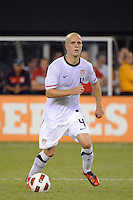 Michael Bradley (4) of the United States. The men's national team of Brazil (BRA) defeated the United States (USA) 2-0 during an international friendly at the New Meadowlands Stadium in East Rutherford, NJ, on August 10, 2010.