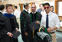 Adam Lathrop, Ph.D., Joseph Yared, Michael Morwood. Class of 2012 commencement.