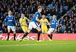 Rangers v St Johnstone&hellip;26.10.16..  Ibrox   SPFL<br />Blair Alston scores for saints<br />Picture by Graeme Hart.<br />Copyright Perthshire Picture Agency<br />Tel: 01738 623350  Mobile: 07990 594431