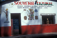Mayan souvenir shop next to the Tazumal ruins, El Salvador