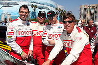 Tim Daly & Eric Close with their racing instructors at  the 33rd Annual Toyota Pro/Celeb Race Press Day at the Grand Prix track in Long Beach, CA on April 7, 2009.©2009 Kathy Hutchins / Hutchins Photo....                .