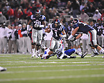 Ole Miss quarterback Randall Mackey (1) in Oxford, Miss. on Saturday, November 12, 2011.