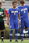 04 September 2011: UCSB's Luis Silva (7). The University of California Santa Barbara Broncos defeated the North Carolina State University Wolfpack 1-0 at Koskinen Stadium in Durham, North Carolina in an NCAA Division I Men's Soccer game.