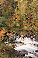 The Baptism River at Tettegouche State Park on Minnesota North Shore.