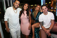 LAS VEGAS, NEVADA - JULY 24, 2016 French Montana, LaLa Anthony, JLO & Casper Smart attend the JLO private birthday celebration at The Nobu Villa Suite at Caesars Palace, July 24, 2016 in Las Vegas Nevada. Photo Credit: Walik Goshorn / Mediapunch