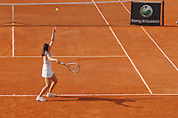 Rome, Italy - May 14, 2008 Jelena Jankovic of Serbia plays an afternoon match at the Foro Italico during the Internazionali BNL d'Italia tennis tournament.
