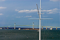 Rhode Island, Newport Bridge, Rose Island Lighthouse, New York yacht club