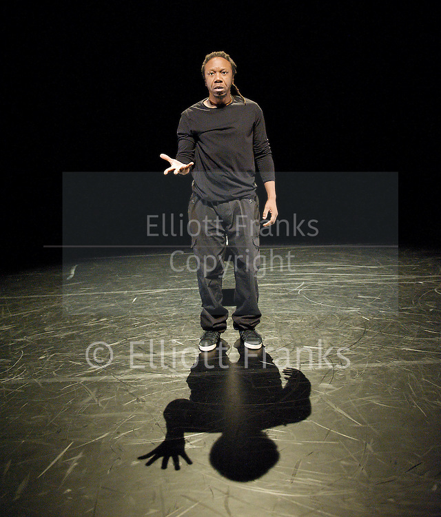 Jonzi D<br /> Lyrikal Fearta - The Letter<br /> at The Lilian Baylis Studio, Sadler's Wells, London, Great Britain <br /> press photocall<br /> 24th October 2012 <br /> <br /> <br /> Jonzi D<br /> The Letter<br /> <br /> directed &amp; Choreography by Jonzi D <br /> <br /> Associate director <br /> Dawn Walton<br /> <br /> Lighting by Lee Curran <br /> <br /> Composer Kwake Bass<br /> <br /> Costumes by Mimi Fresh <br /> <br /> Assistant Choreographer Jane Sekonya<br /> <br /> <br /> Photograph by Elliott Franks