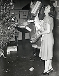 celebrating Christmas at company office USA 1946