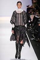 Jacquelyn Jablonski walks the runway in an out by Max Azria, for the BCBGMAXAZRIA Fall 2011 fashion show, during Mercedes Benz Fashion Week.