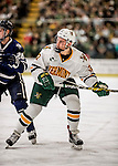 10 February 2017: University of Vermont Catamount Forward Ross Colton, a Freshman from Robbinsville, NJ, in second period action against the University of New Hampshire Wildcats at Gutterson Fieldhouse in Burlington, Vermont. The Catamounts fell to the Wildcats 4-2 in the first game of their 2-game Hockey East Series. Mandatory Credit: Ed Wolfstein Photo *** RAW (NEF) Image File Available ***