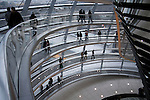 passage way up to the top of the reichstag dome, berlin, germany