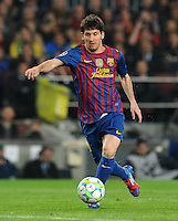 FUSSBALL  CHAMPIONS LEAGUE  VIERTELFINAL RUECKSPIEL   2011/2012      FC Barcelona - AC Mailand           03.04.2012 Lionel Messi (Barca)