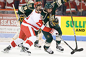 Charlie Coyle (BU - 3), Chris McCarthy (Vermont - 3) - The visiting University of Vermont Catamounts tied the Boston University Terriers 3-3 in the opening game of their weekend series at Agganis Arena in Boston, Massachusetts, on Friday, February 25, 2011.